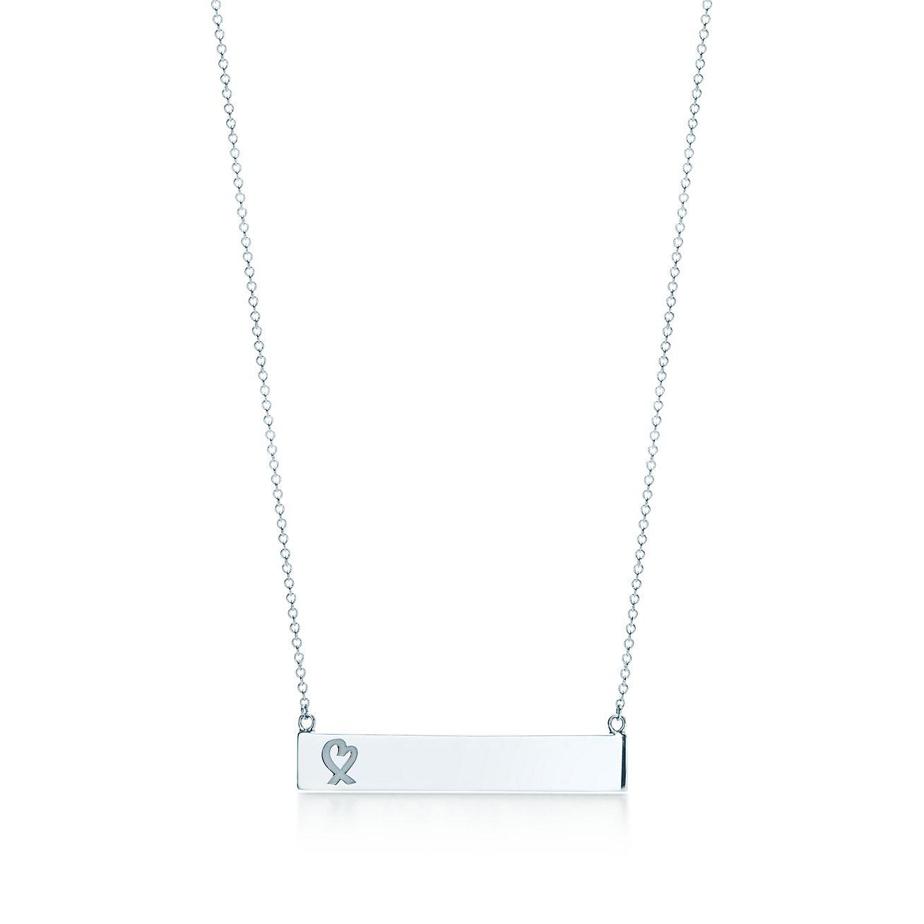 Paloma picasso loving heart bar pendant in sterling silver paloma picassoloving heart bar pendant aloadofball Gallery