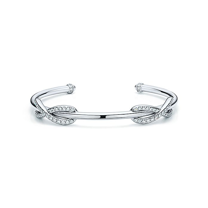d2ec69b68 Tiffany Infinity double cuff in 18k white gold, medium. | Tiffany & Co.