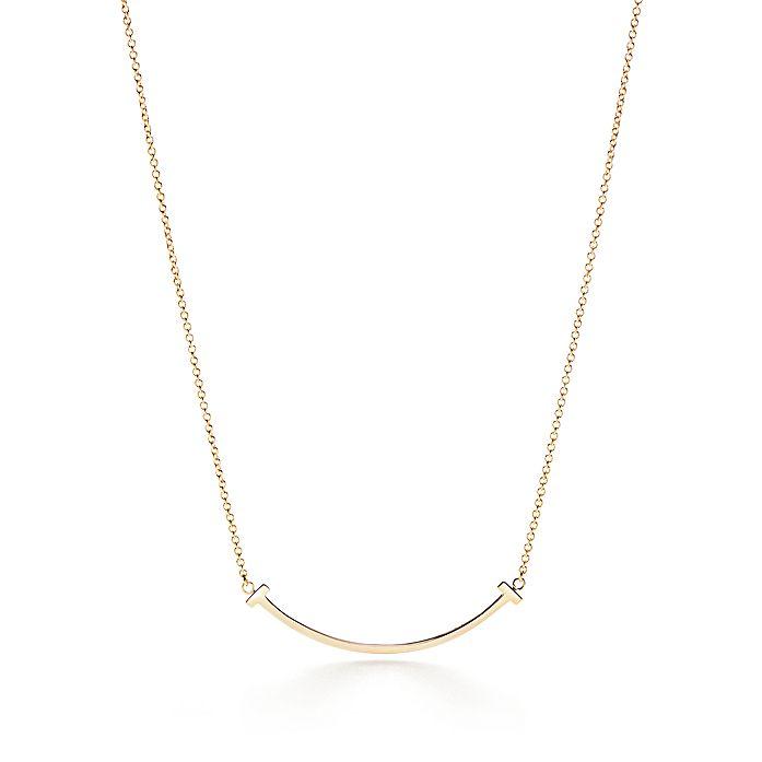 83431067d Tiffany T smile pendant in 18k gold, mini. | Tiffany & Co.