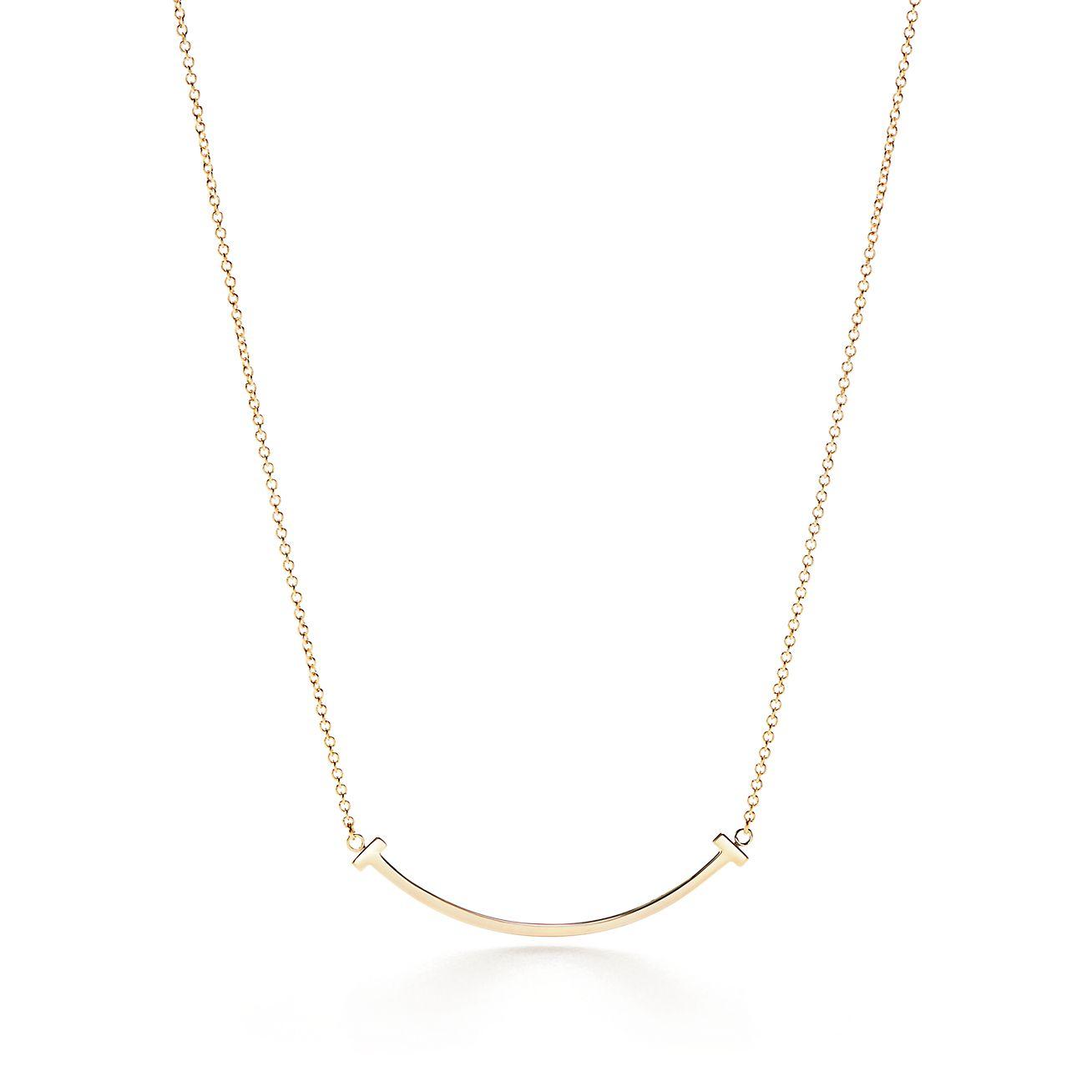 Tiffany t smile pendant in 18k gold mini tiffany co tiffany tsmile pendant aloadofball Image collections