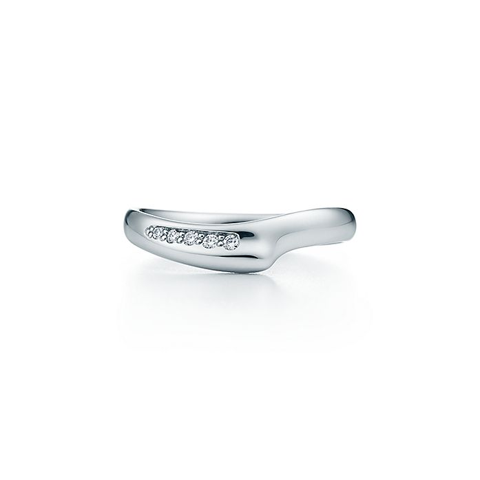 0e8a324b9 Elsa Peretti® Open Heart band ring in platinum with diamonds ...