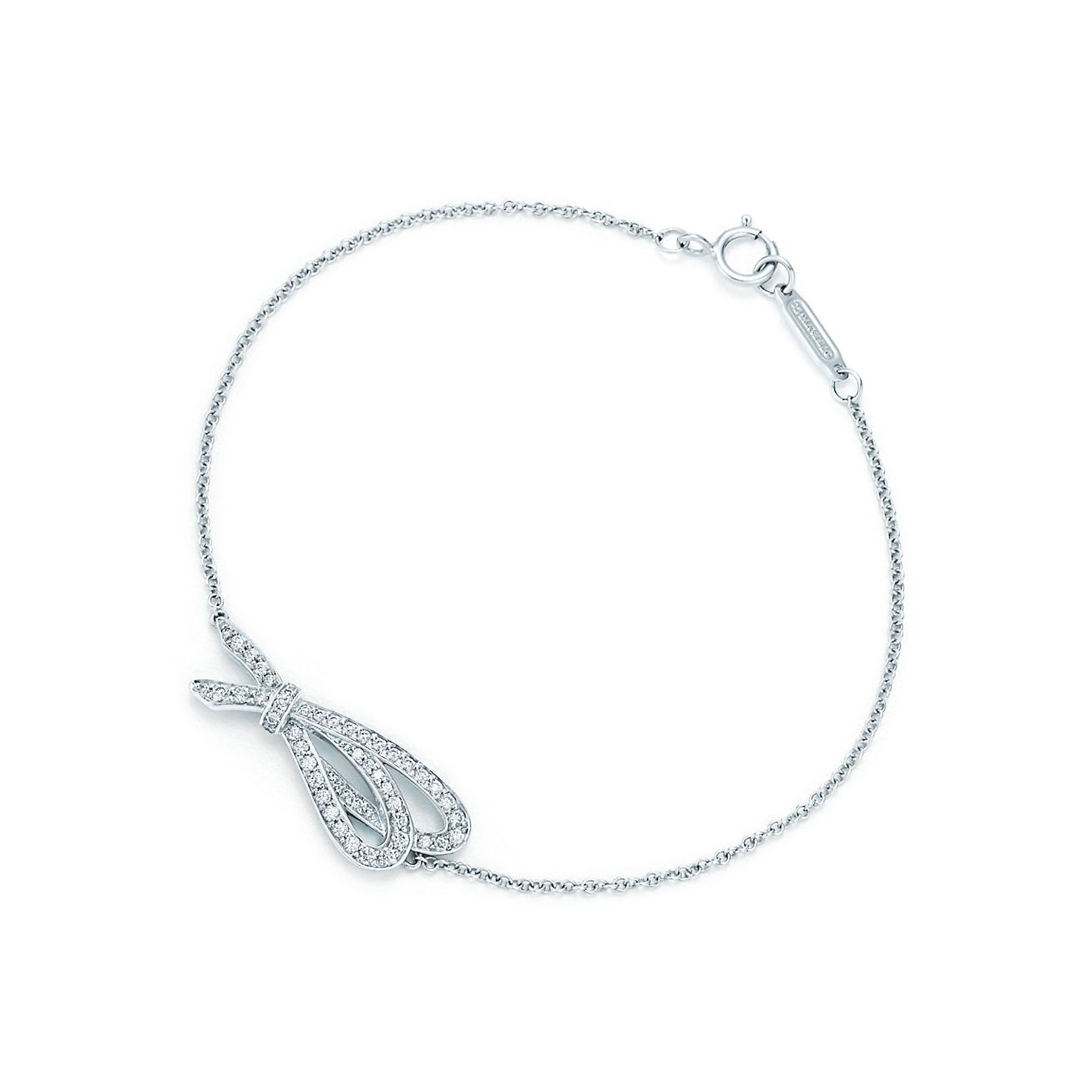 Tiffany Bow bracelet in platinum with diamonds, medium - Size 6.5 IN Tiffany & Co.