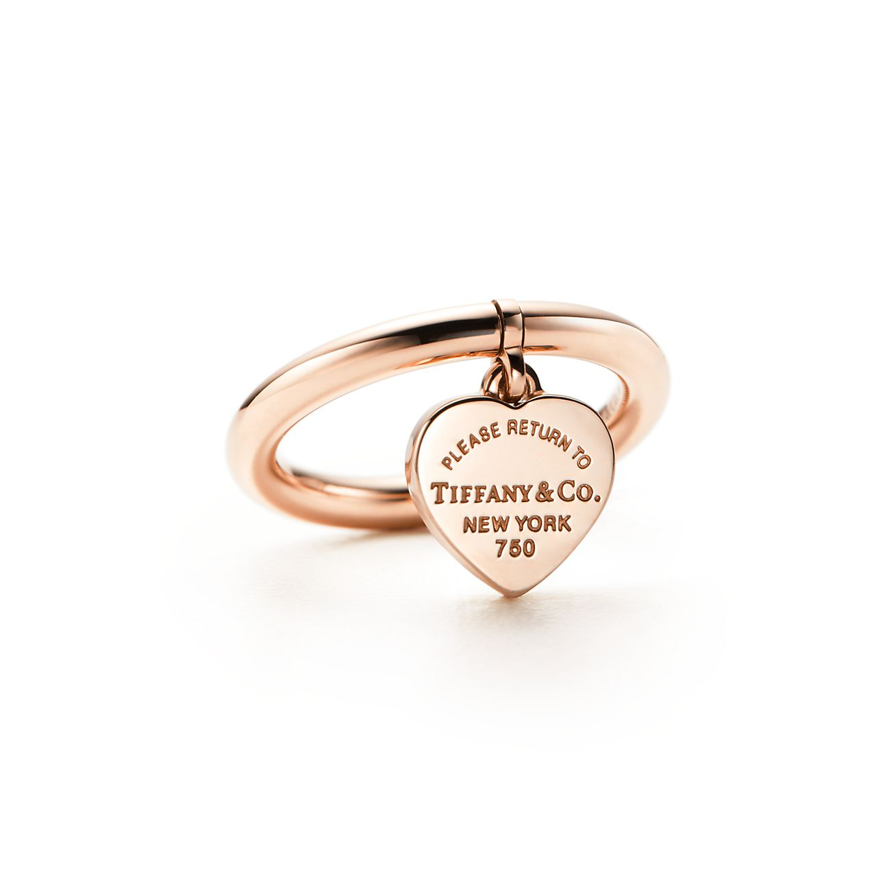 Return To Tiffany Heart Tag Ring In 18k Rose Gold Tiffany Co