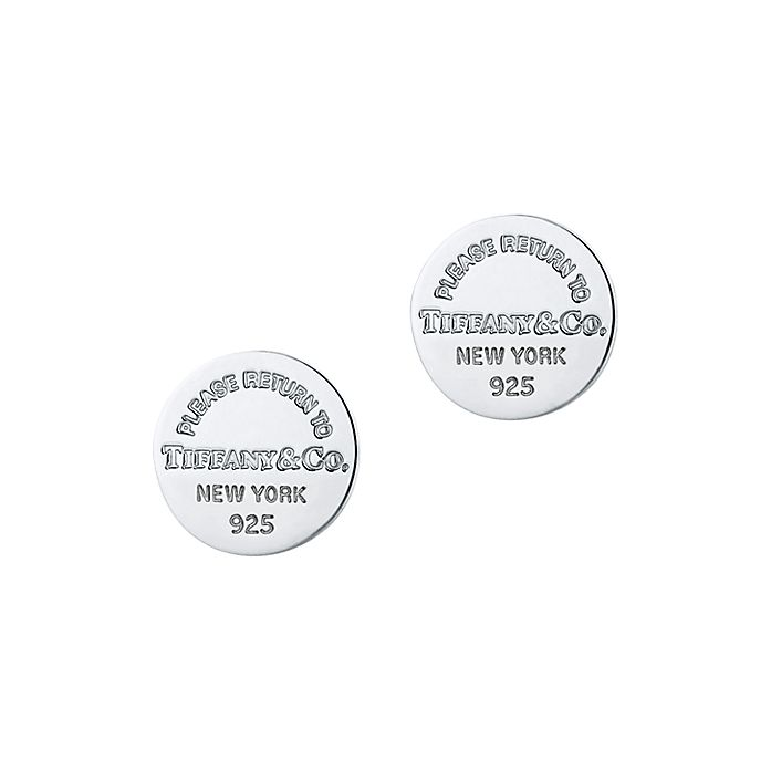 cc0187bbe Return to Tiffany® circle stud earrings in sterling silver ...