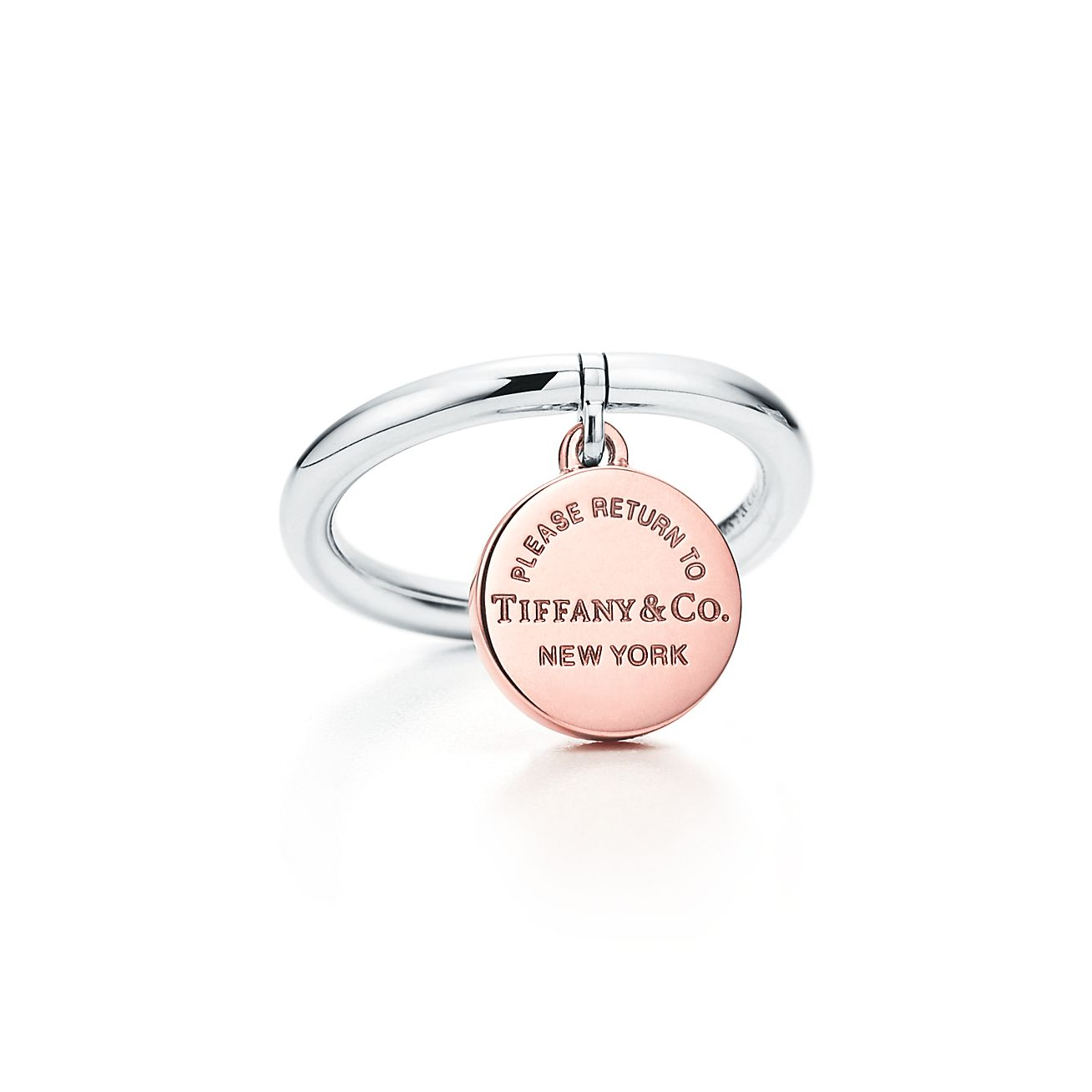 Return to Tiffany heart tag ring in 18k rose gold - Size 4 1/2 Tiffany & Co.