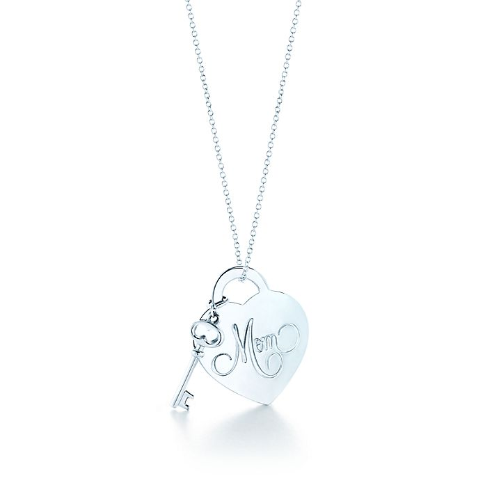 7f645d92e Return to Tiffany® Mom heart tag with key pendant in sterling silver ...