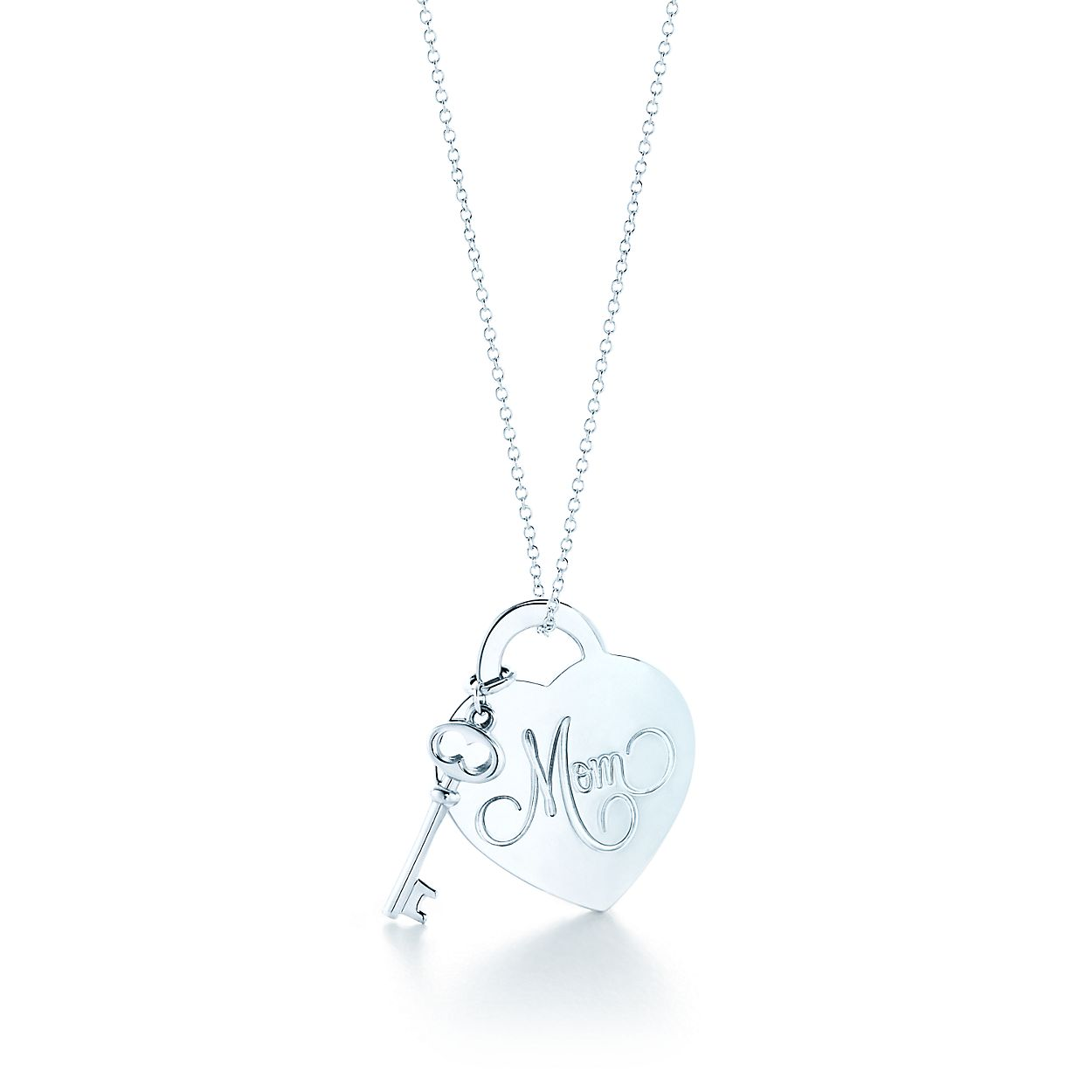 Return to tiffany mom heart tag with key pendant in sterling silver return to tiffanymom heart tag key pendant aloadofball Gallery