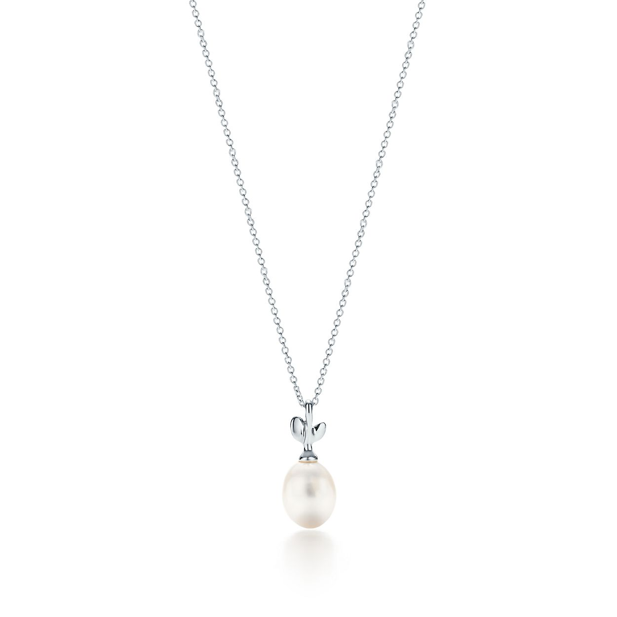 designer in emerald oval white pearls necklace buy pearl cost pure pendant shiny online and rs