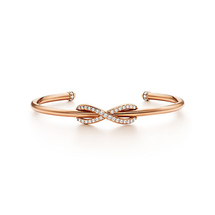 7eb8f906c Tiffany Infinity cuff in 18k rose gold with diamonds, medium ...