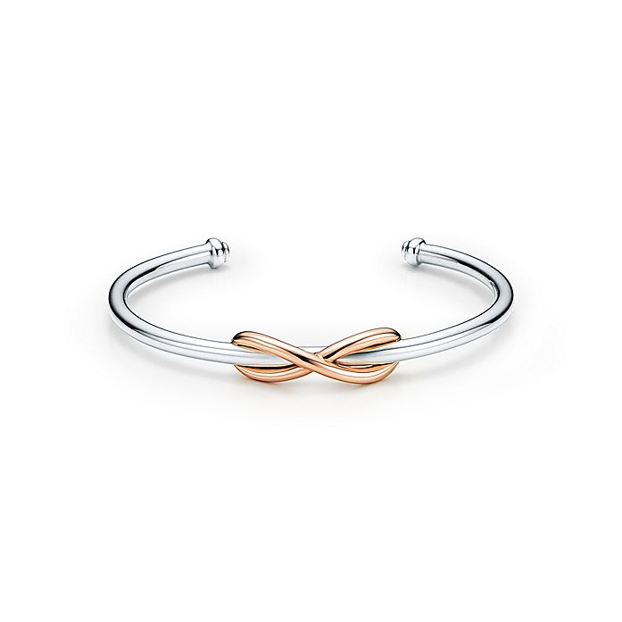 eceacab1e Tiffany Infinity cuff in sterling silver and 18k rose gold, medium ...