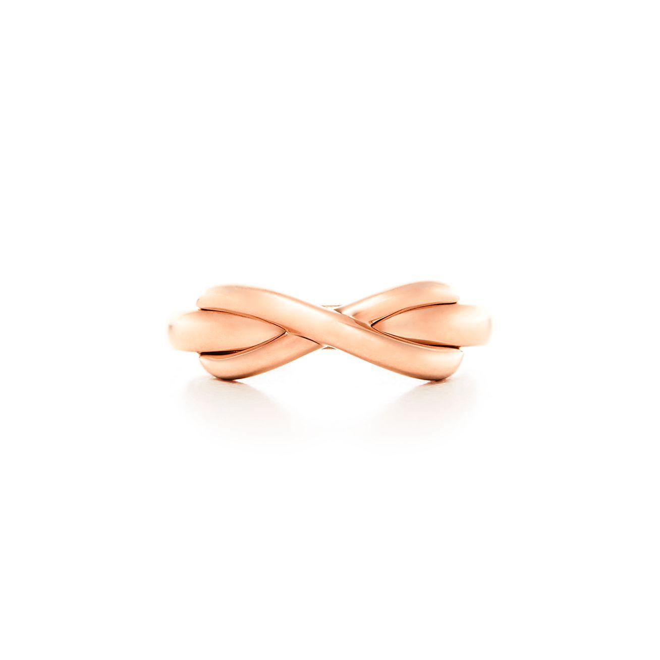 Tiffany Infinity Ring In 18k Rose Gold Tiffany Co