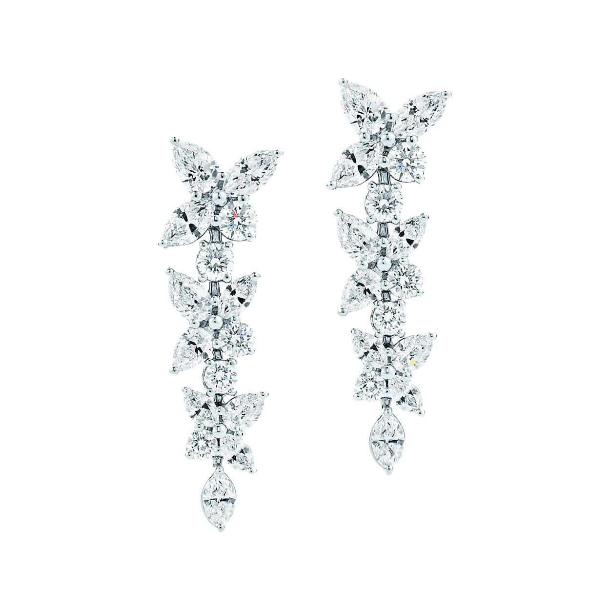 Tiffany Victoria Mixed Cer Br Drop Earrings