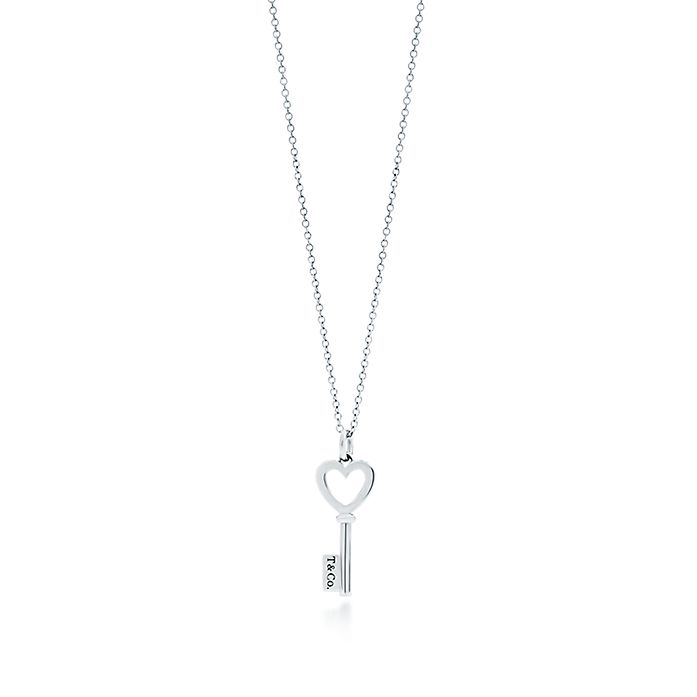 556176ea2 Tiffany Keys heart key pendant in sterling silver, mini. | Tiffany & Co.