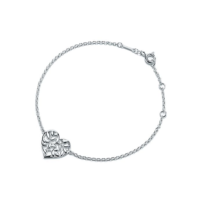 f898a2f11 Paloma Picasso® Olive Leaf heart bracelet in sterling silver ...
