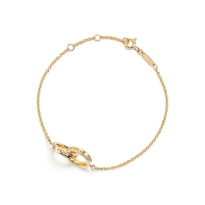 d070873dce023 Tiffany 1837® interlocking bracelet in 18k gold. | Tiffany & Co.
