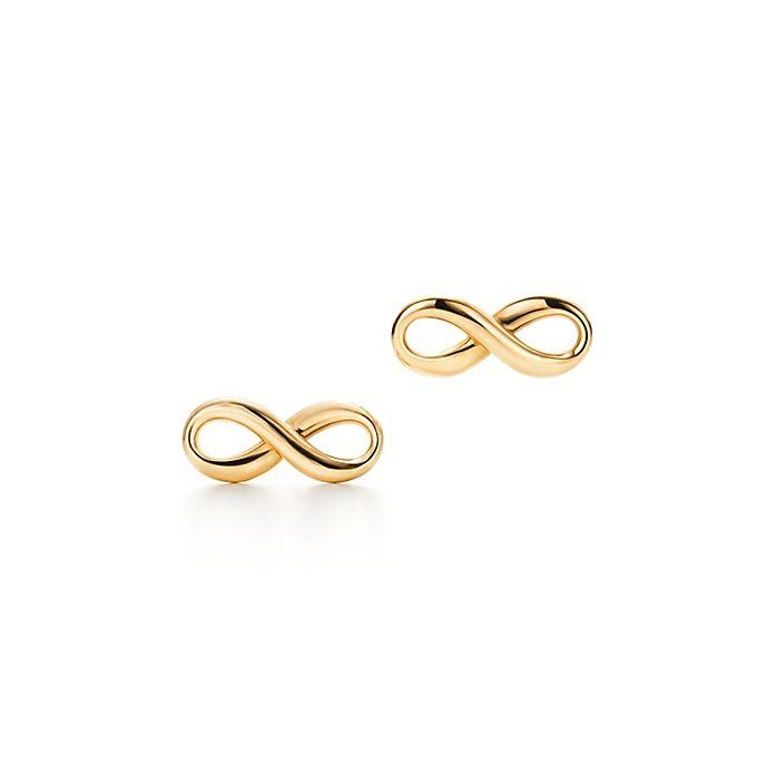 520c4e9edfa07 Tiffany Infinity earrings in 18k gold. | Tiffany & Co.