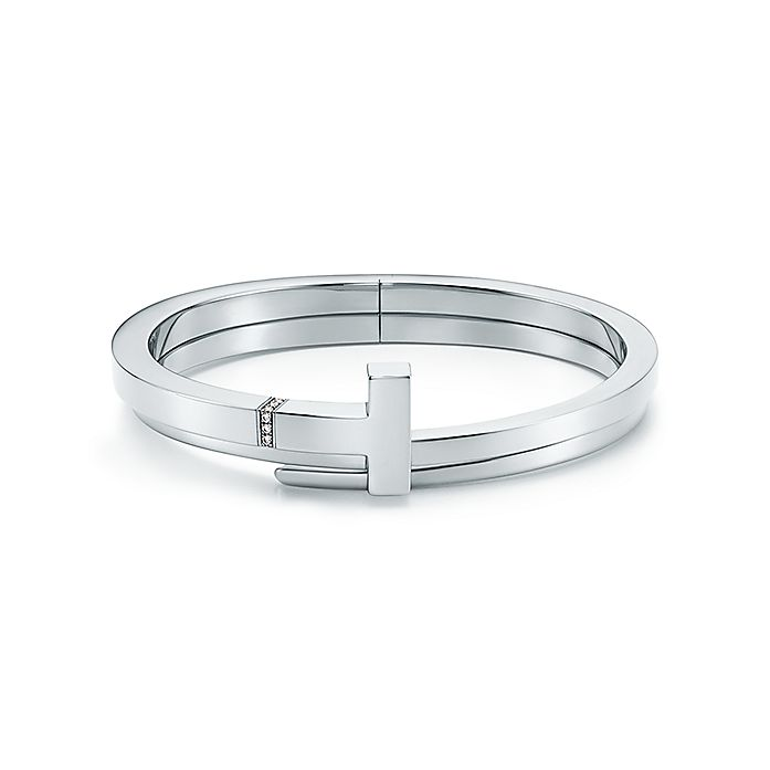 aae8eab82 Tiffany T square wrap bracelet in sterling silver with diamonds ...