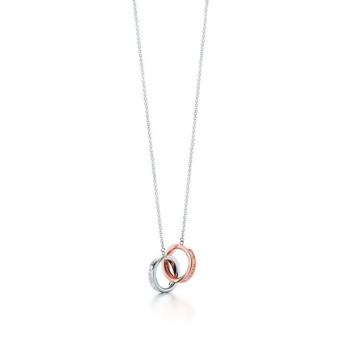 9abe72229 Tiffany 1837® interlocking pendant in sterling silver and Rubedo ...