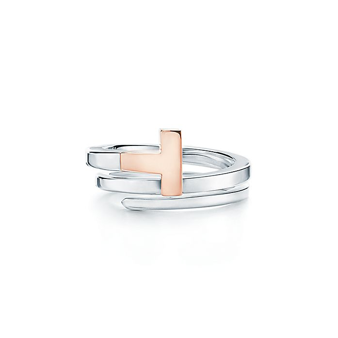 abc4ed8c4 Tiffany T square wrap ring in 18ct rose gold and sterling silver ...