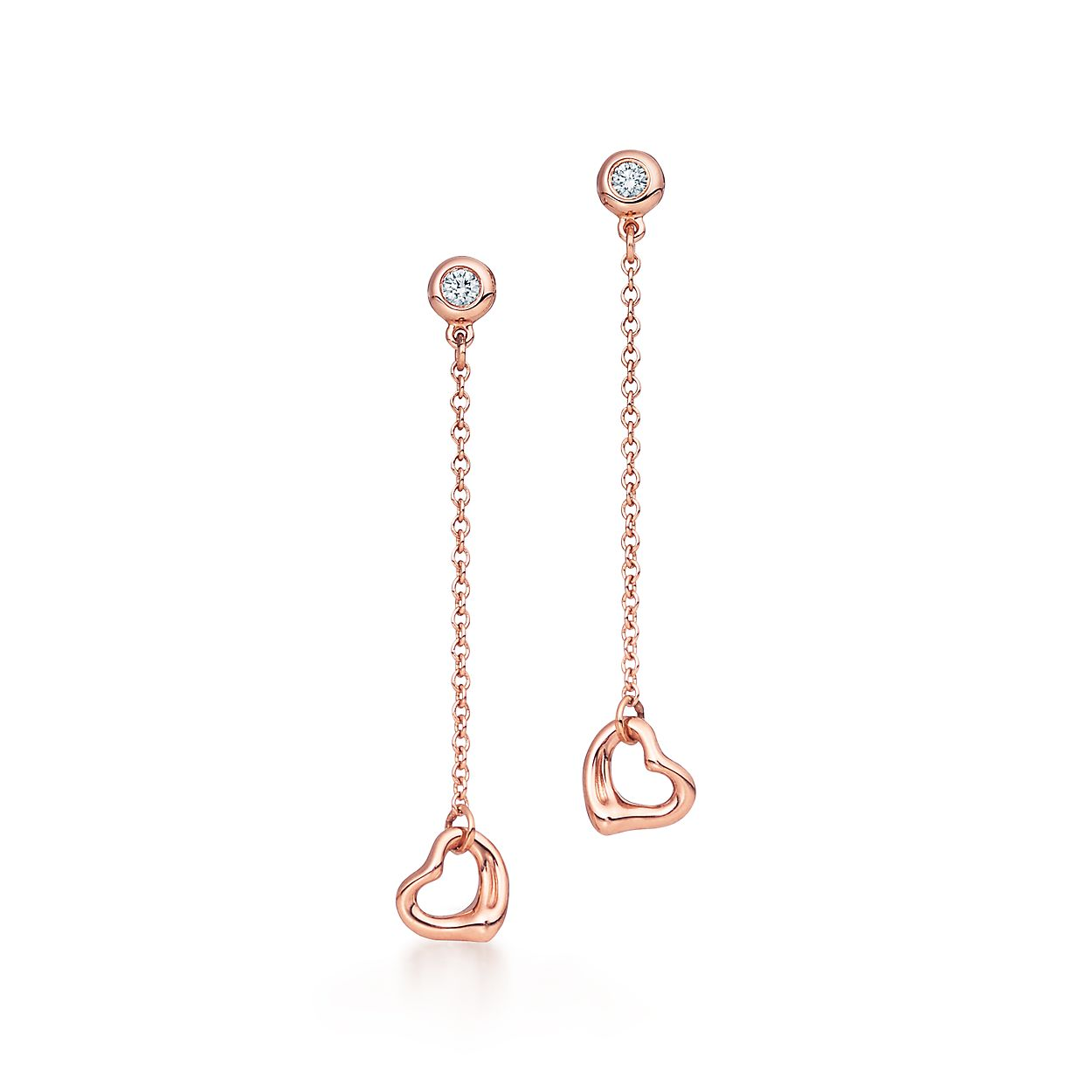 Elsa Peretti Open Heart earrings in 18k rose gold Tiffany & Co. xeWA81MF