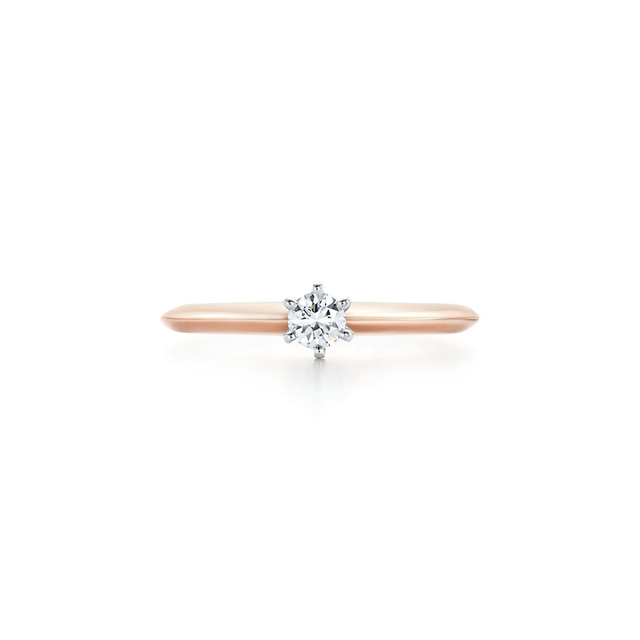 The Tiffany Setting In 18k Rose Gold Tiffany Co