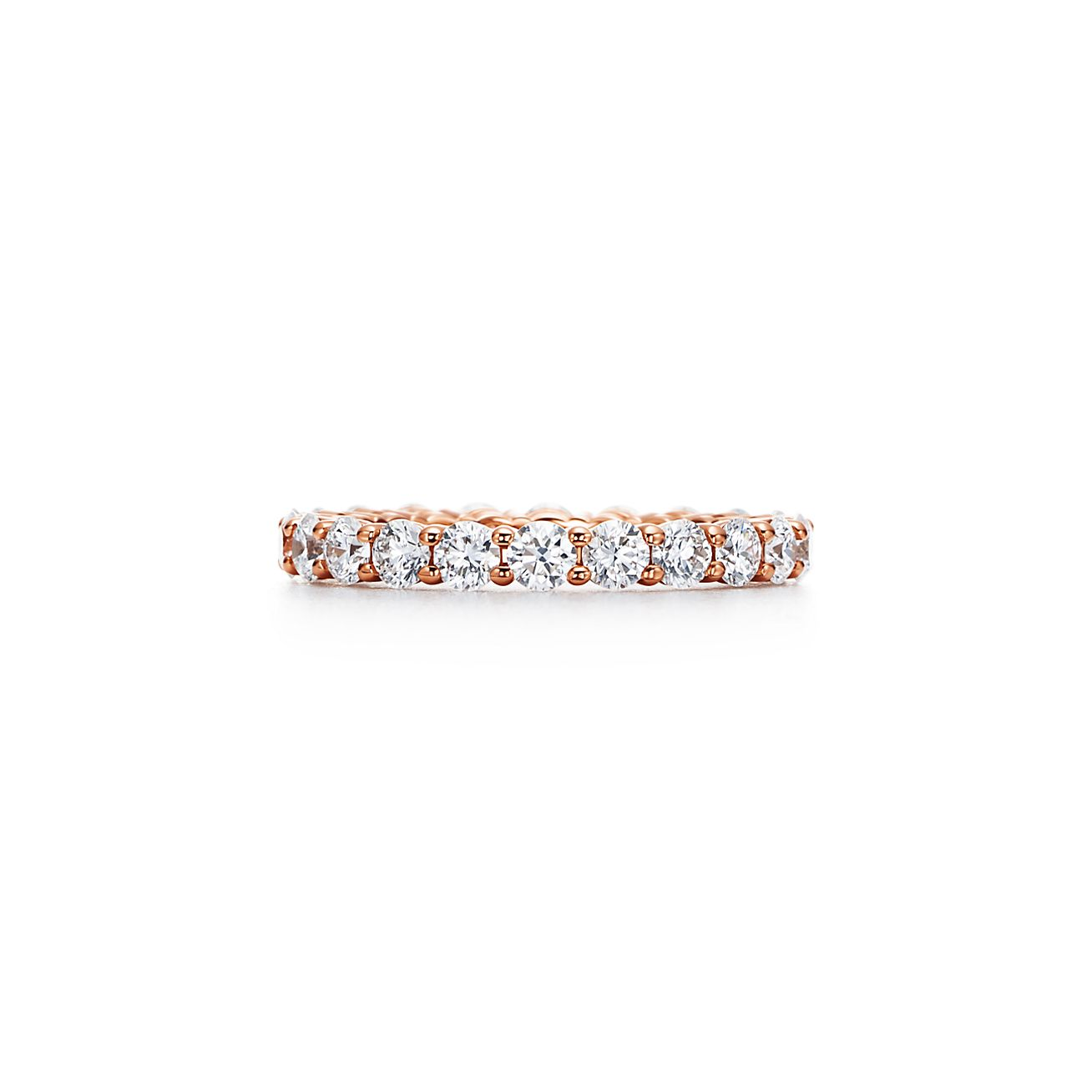 Tiffany Embrace Band Ring In 18k Rose Gold With Diamonds 3 Mm Wide