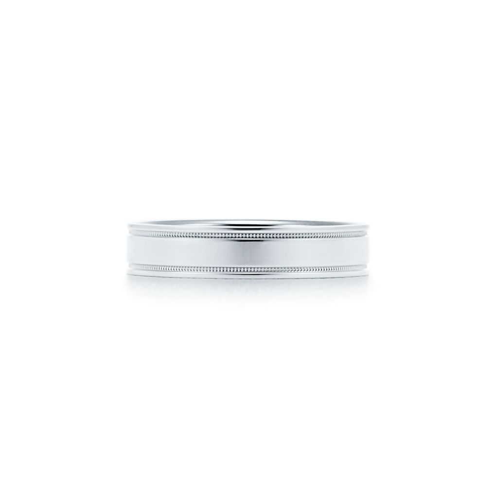 wedding milgrain bands store band platinum