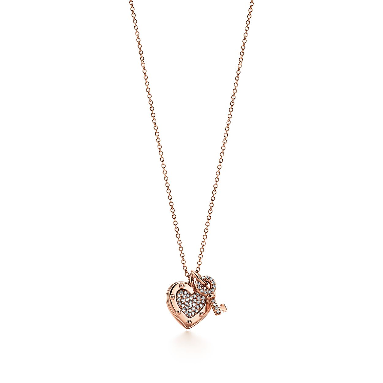 Return to tiffany love heart tag key pendant in 18k rose gold with return to tiffanylove heart tag key pendant aloadofball Image collections