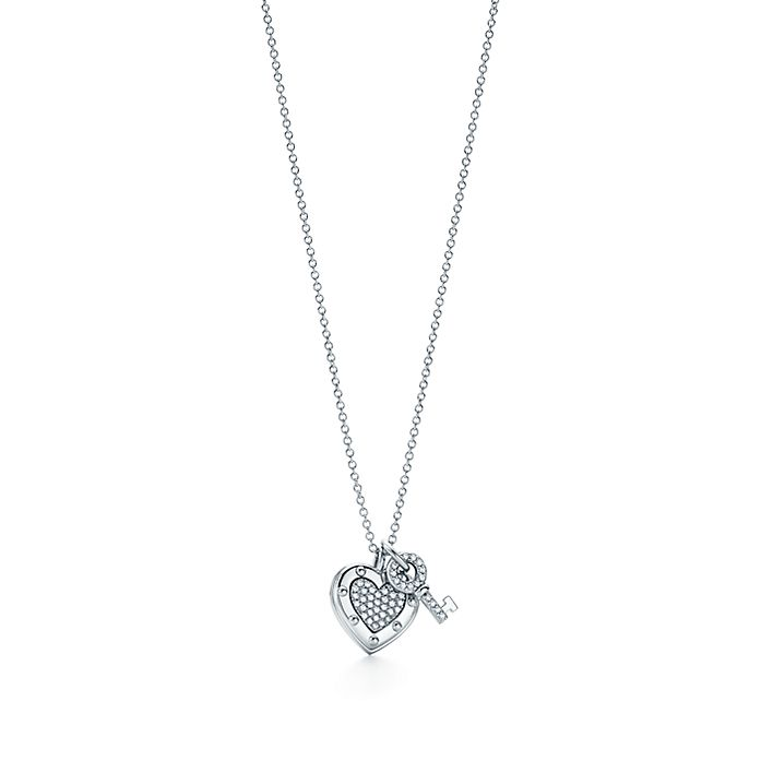 33391fce5 Return to Tiffany® Love heart tag key pendant in 18k white gold with ...