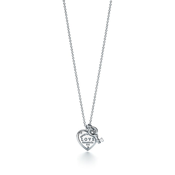 12fd94981 Sterling Silver Love Heart Tag and Key Pendant | Tiffany & Co.