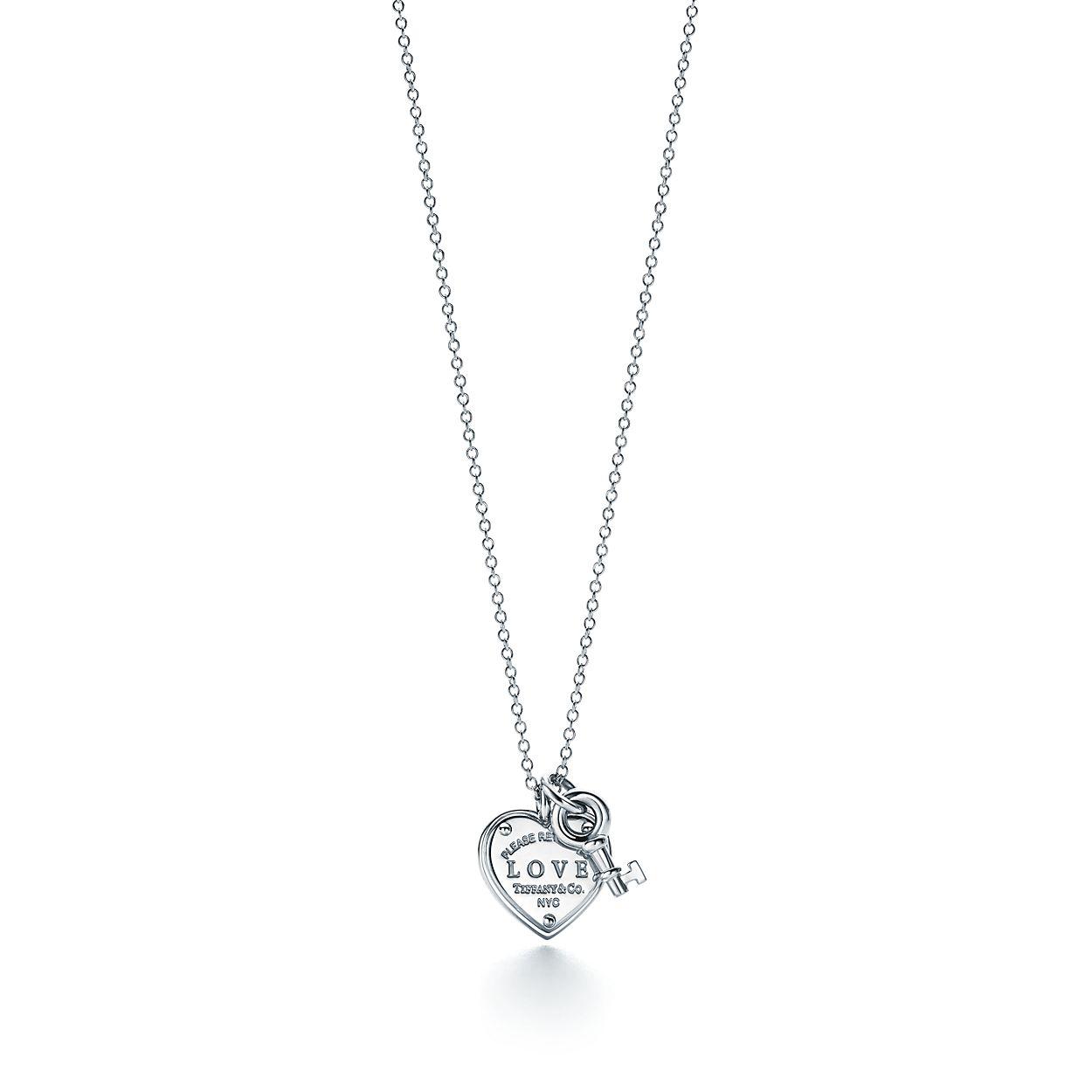 Return To Tiffany Love Heart Key Pendant