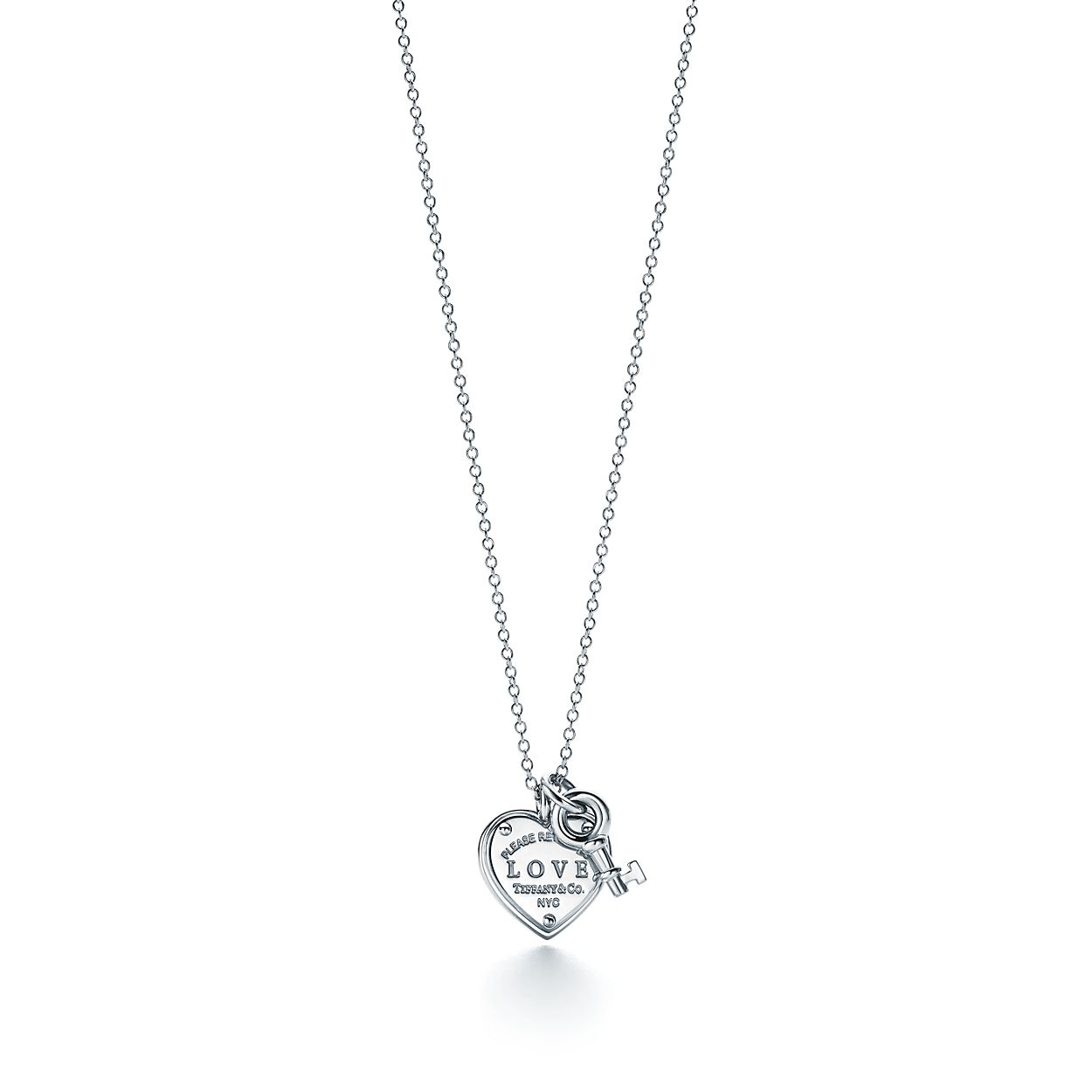 Sterling silver love heart tag and key pendant tiffany co return to tiffanylove heart tag key pendant aloadofball Gallery