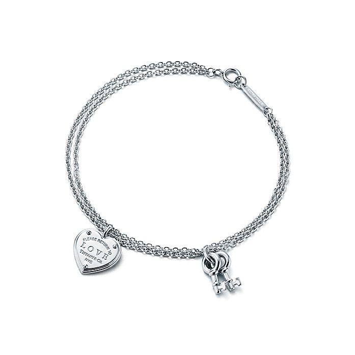 f5d10ff2d Return to Tiffany® Love heart tag key bracelet in sterling silver ...