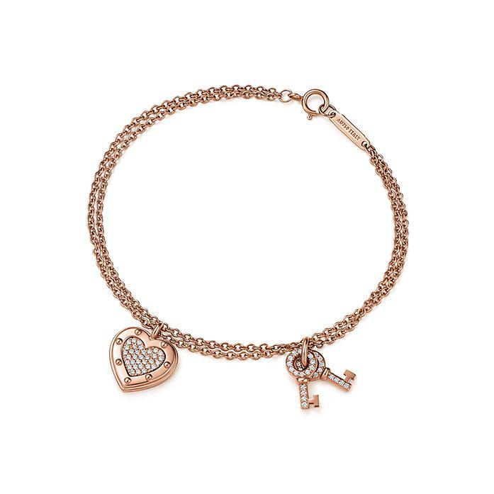 9a3c31e22 Return to Tiffany® Love bracelet in 18k rose gold with diamonds ...
