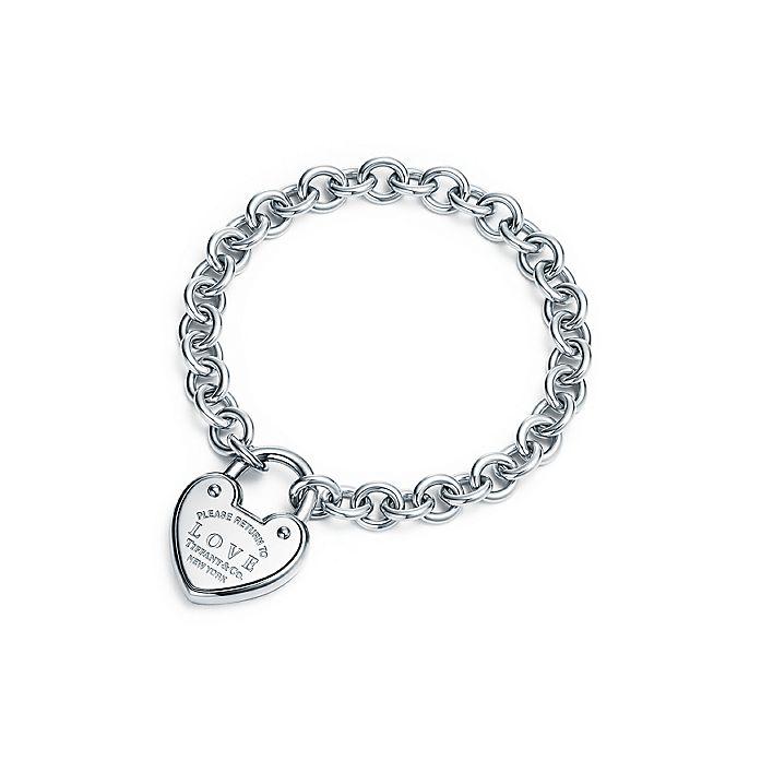 9f9a323523 Return to Tiffany® Love lock bracelet in sterling silver, medium ...