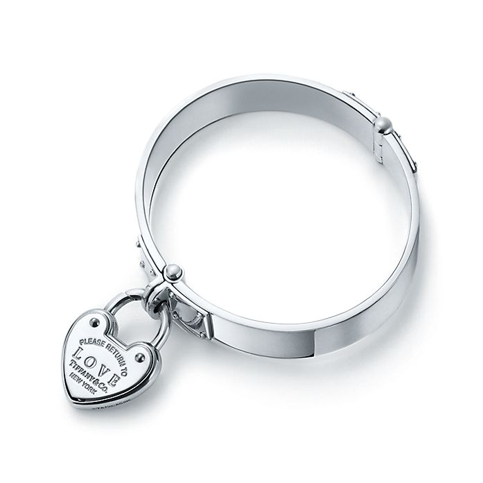 fb09cf2fa Return to Tiffany™ Love lock hinged bangle in sterling silver, large ...