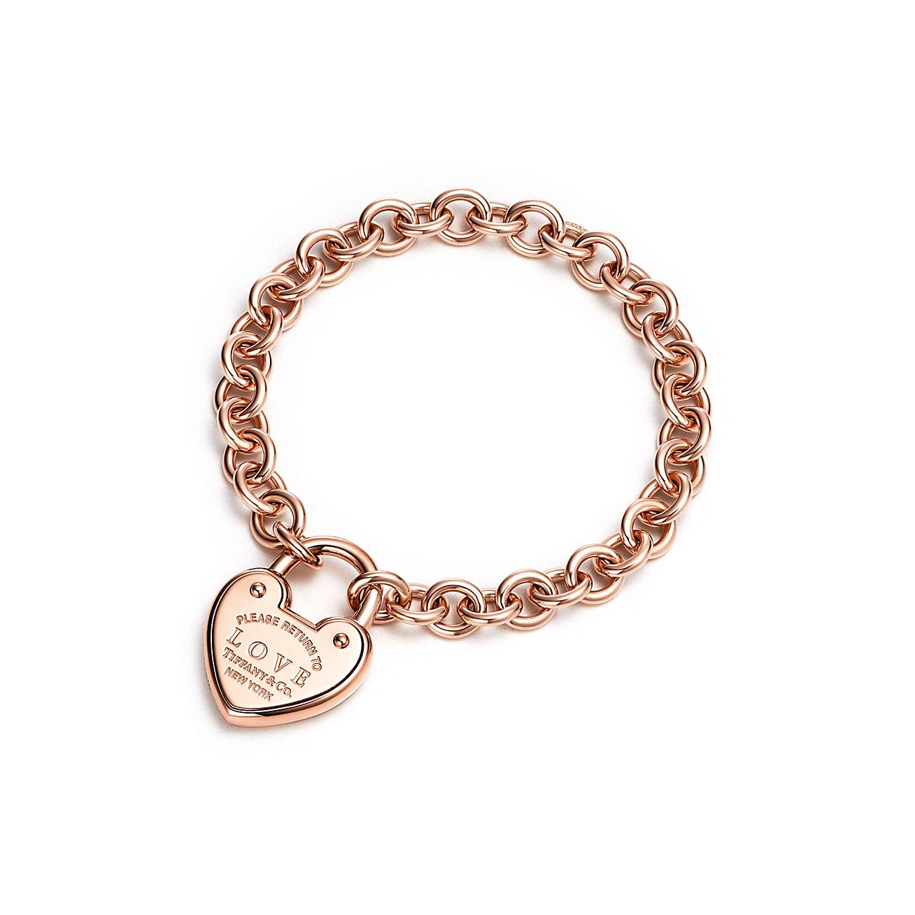 Return To Tiffany Love Lock Bracelet In 18k Rose Gold Medium