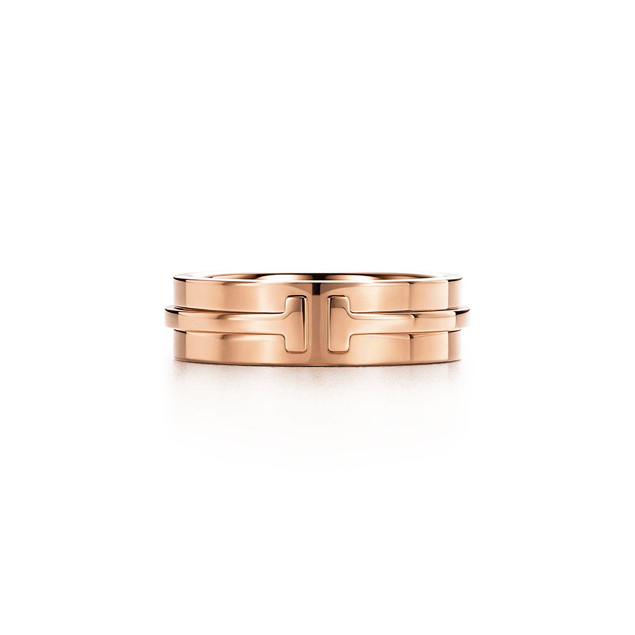 18k Rose Gold Tiffany T Two Ring Tiffany Co