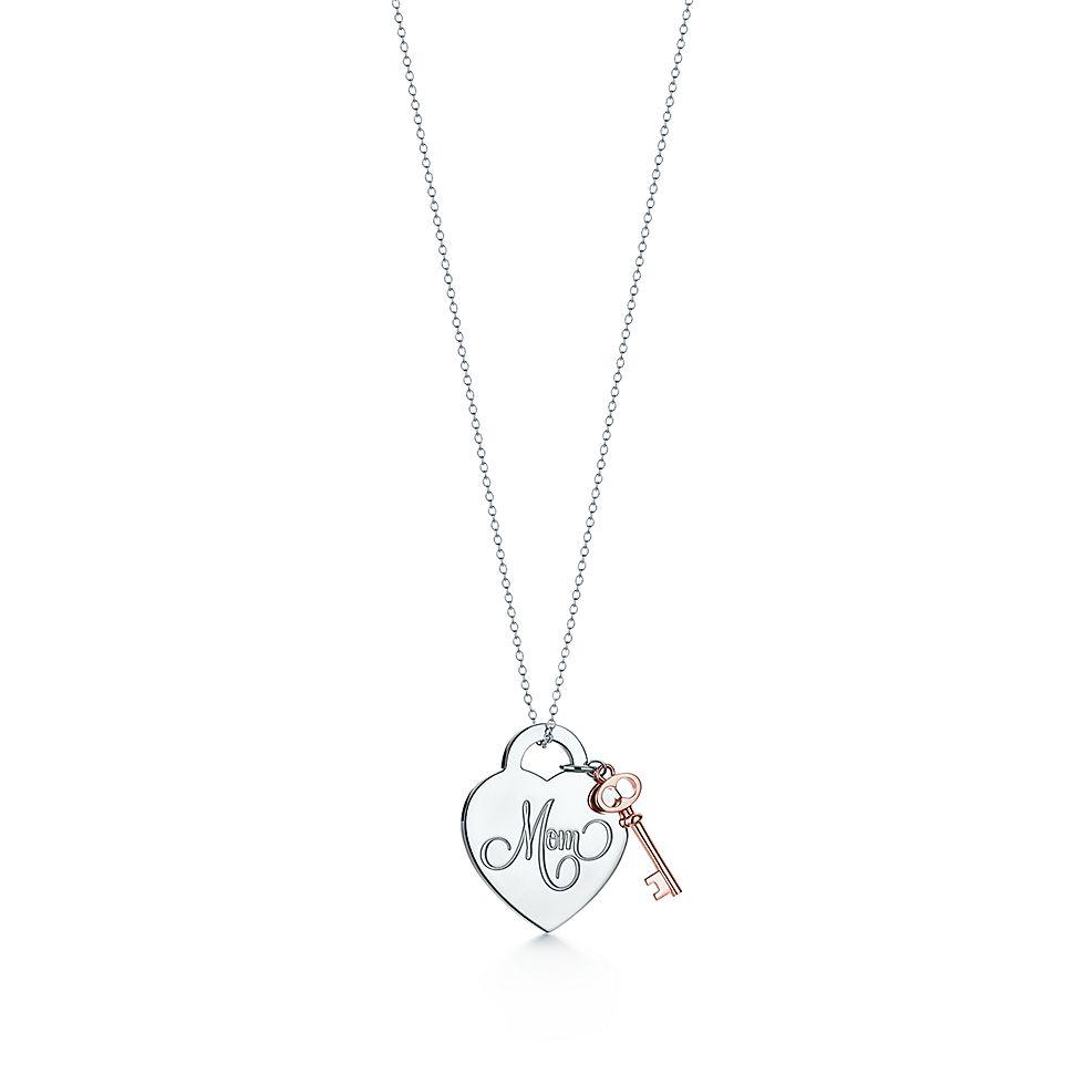 Mom Heart Tag With Key Pendant by Tiffany Hearts®