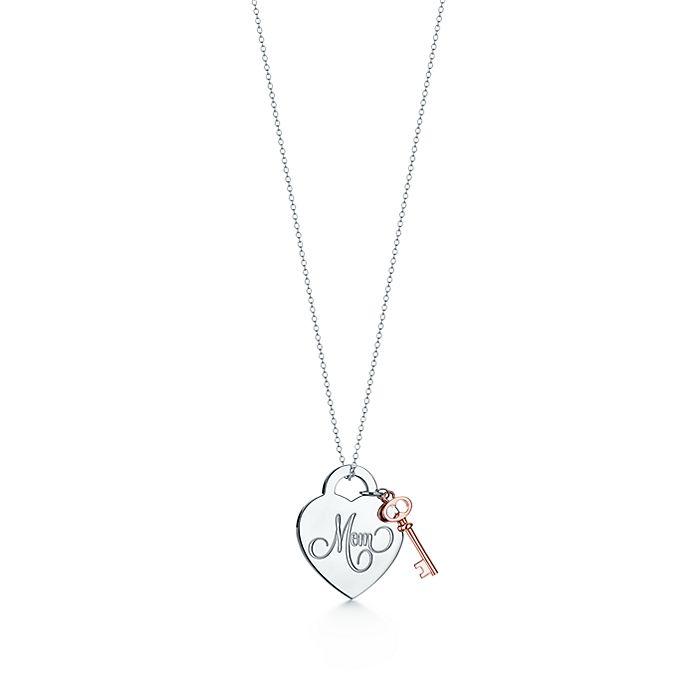 6e1e3b702 Mom Heart Key Pendant in Sterling Silver and Rubedo® | Tiffany & Co.