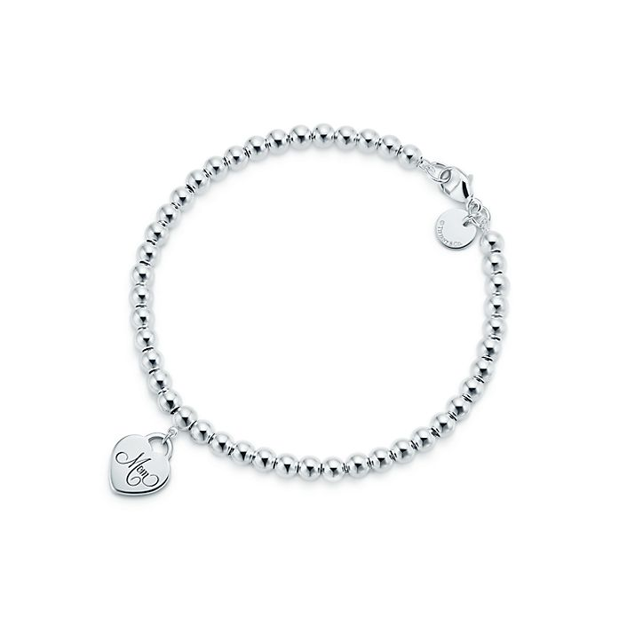 f0fd8919b Sterling Silver Mom Heart Tag Bead Bracelet | Tiffany & Co.
