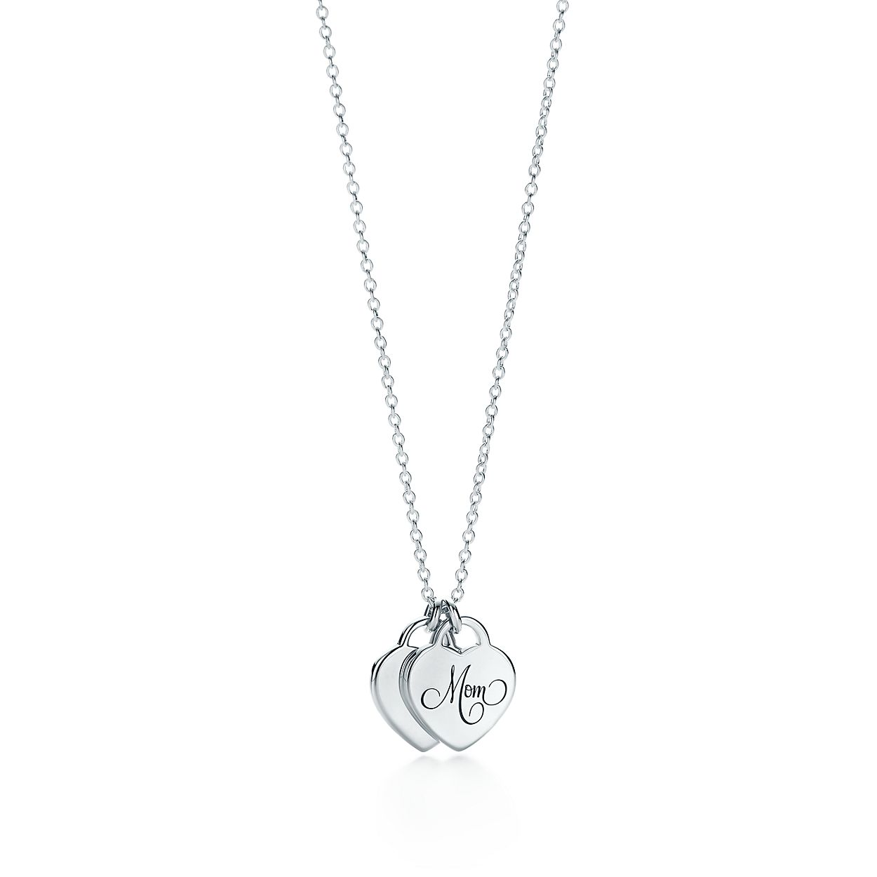 Tiffany hearts mom heart tag duo pendant in sterling silver mini tiffany heartsmom heart tagbrduo pendant mozeypictures Image collections