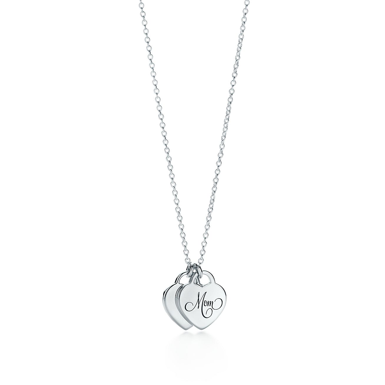 Tiffany hearts mom heart tag duo pendant in sterling silver mini tiffany heartsmom heart tagbrduo pendant aloadofball Image collections
