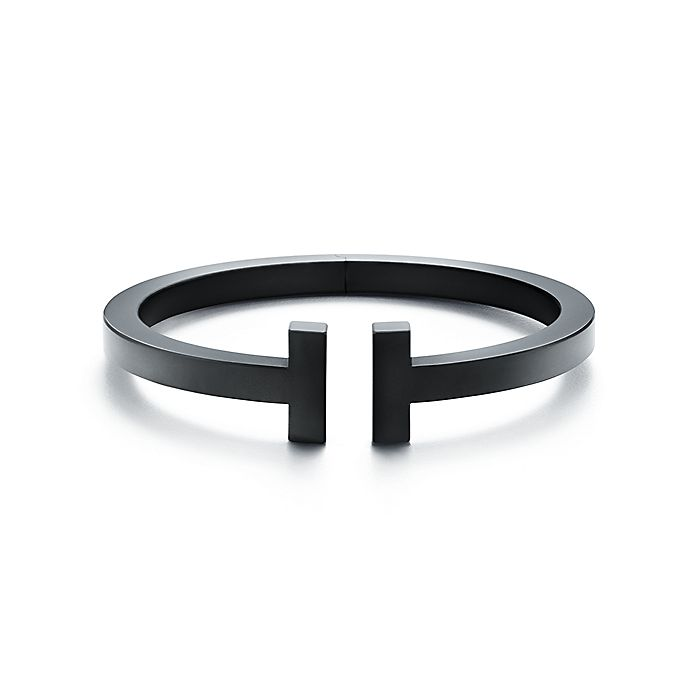 fad0d23a59 Tiffany T square bracelet in black-coated steel, medium. | Tiffany & Co.