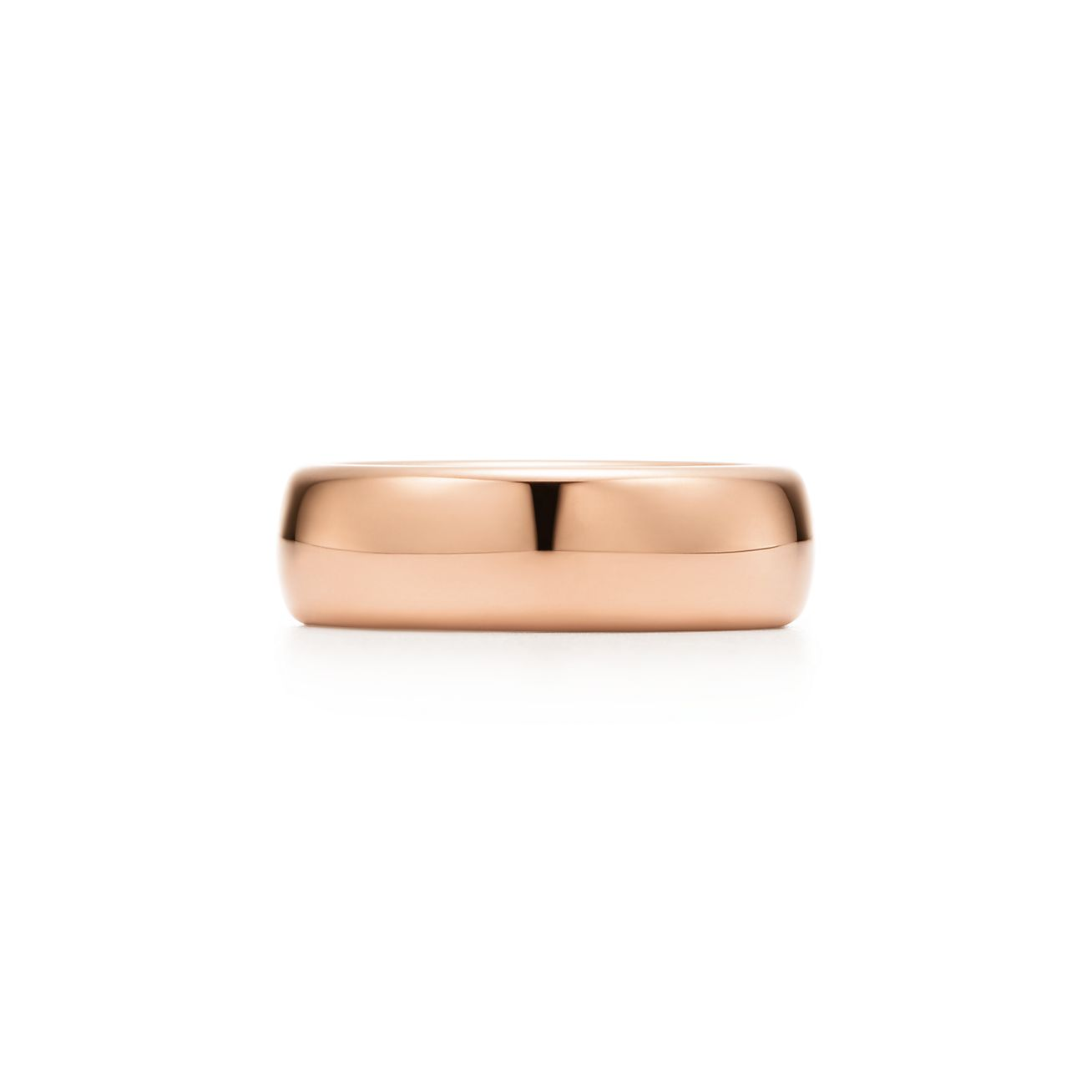 Tiffany Classic wedding band ring in 18k rose gold, 2 mm wide - Size 7 1/2 Tiffany & Co.