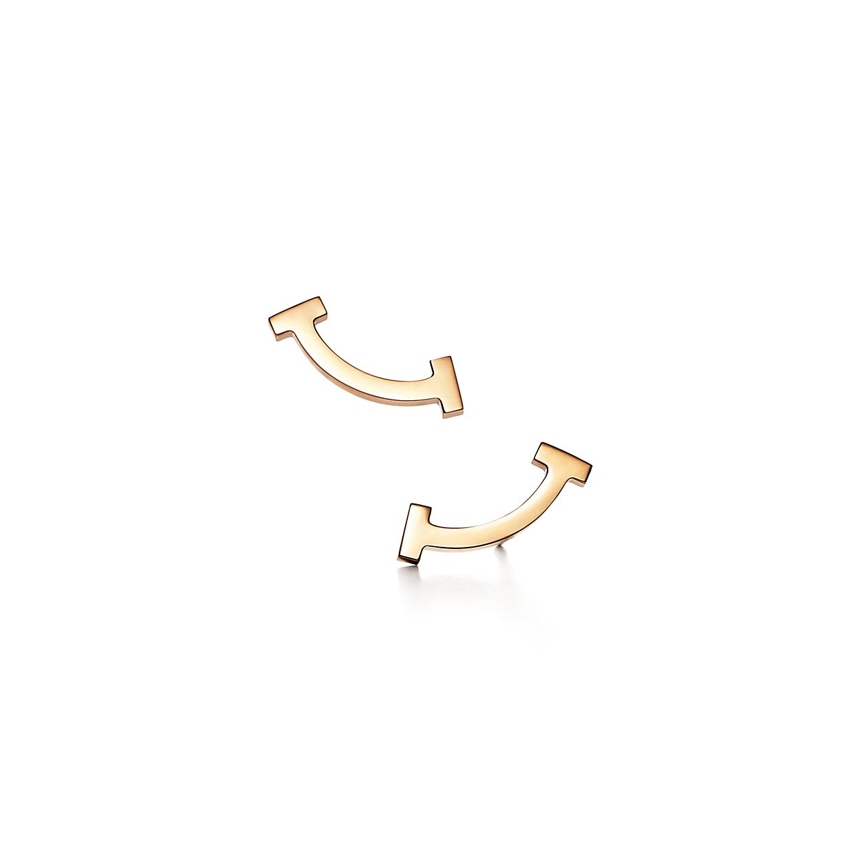 Tiffany T smile earrings in 18k gold with diamonds Tiffany & Co. KujlDPyD2