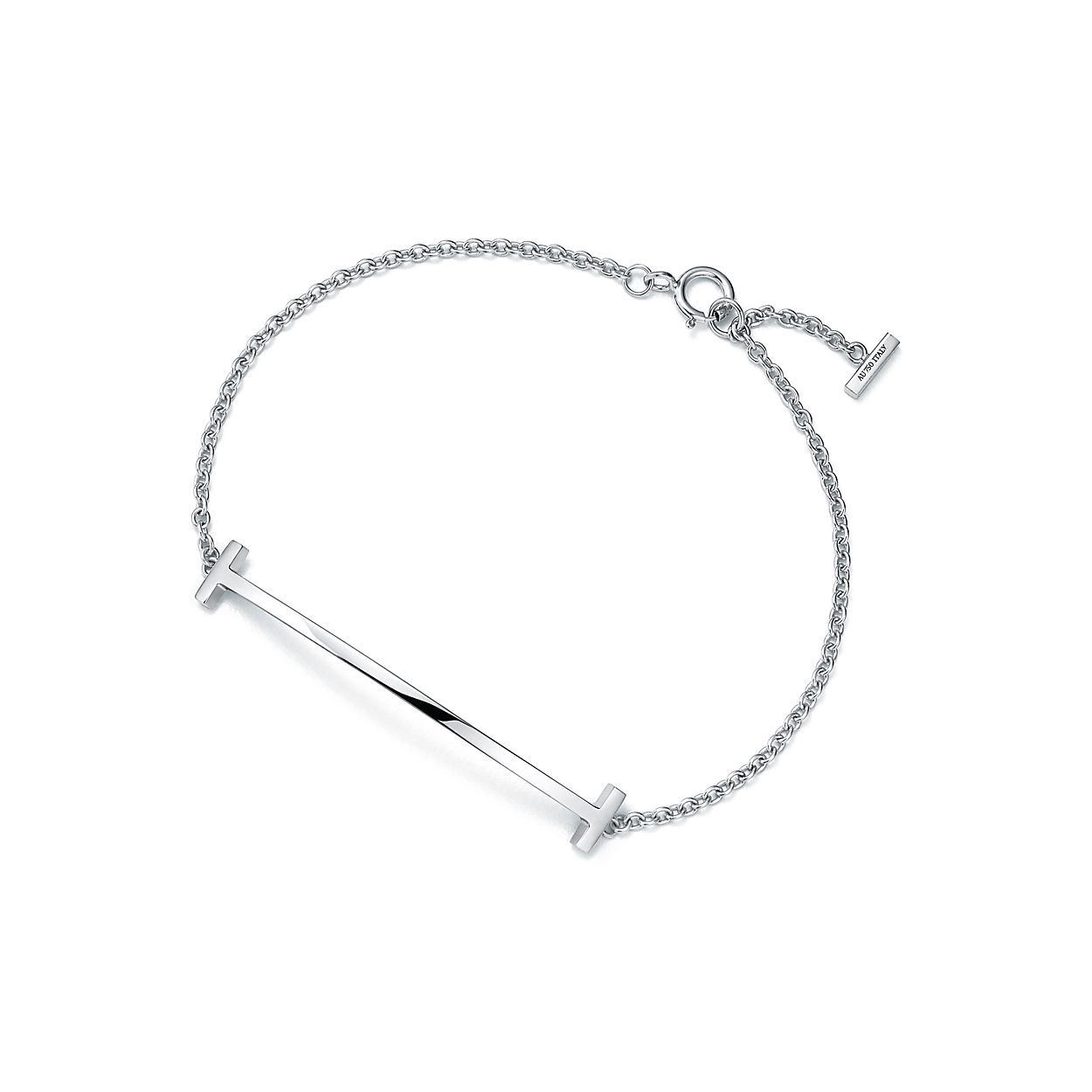 Bracelet Sourire Tiffany T En Or Blanc 18 Carats, Petite - Petite Taille Tiffany & Co.