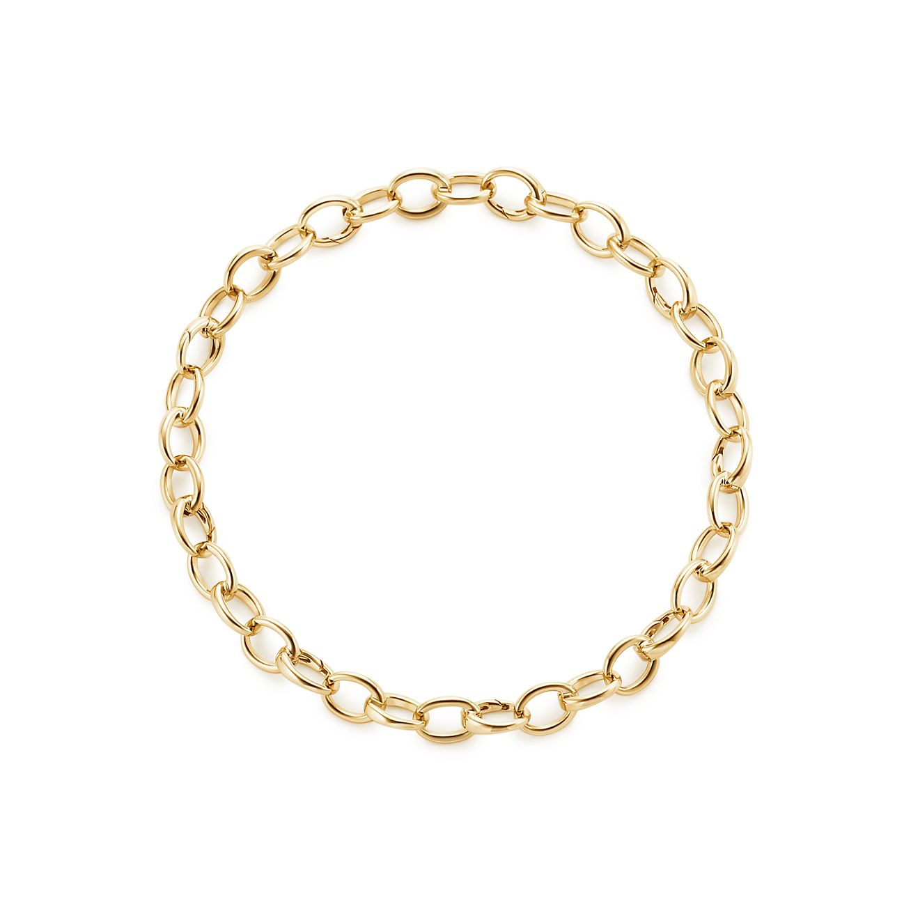 Oval Link Bracelet In 18k Gold Medium Tiffany Co