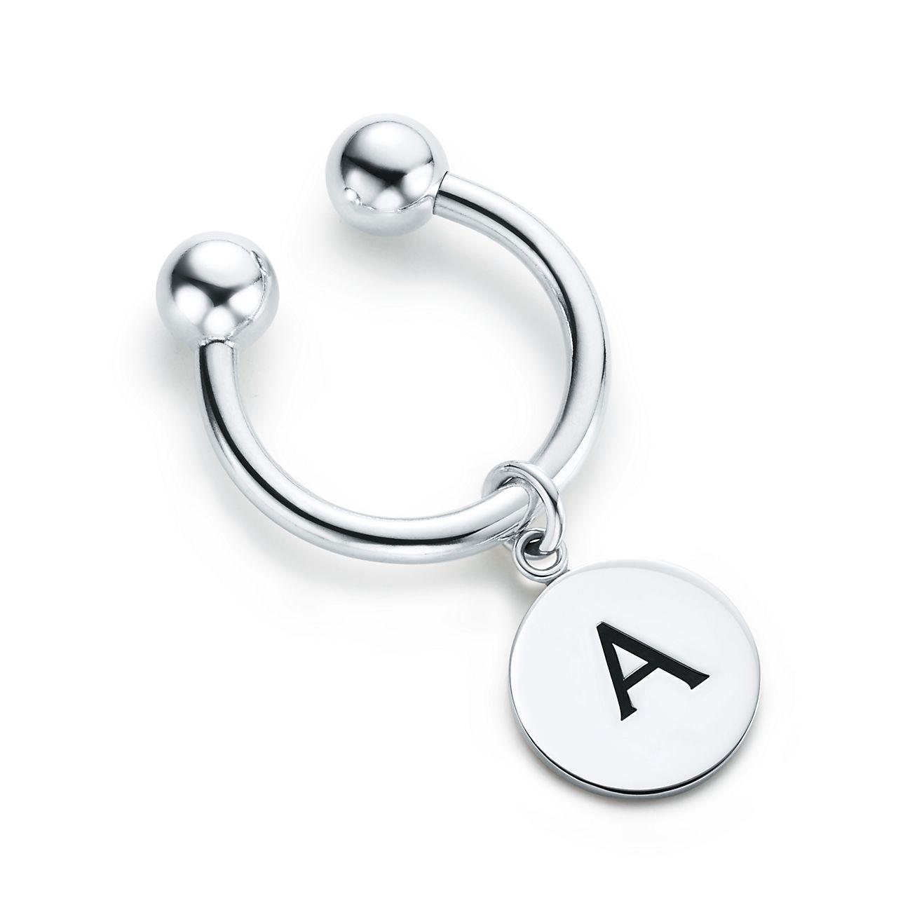 Tiffany Charms Alphabet Charm Key Ring