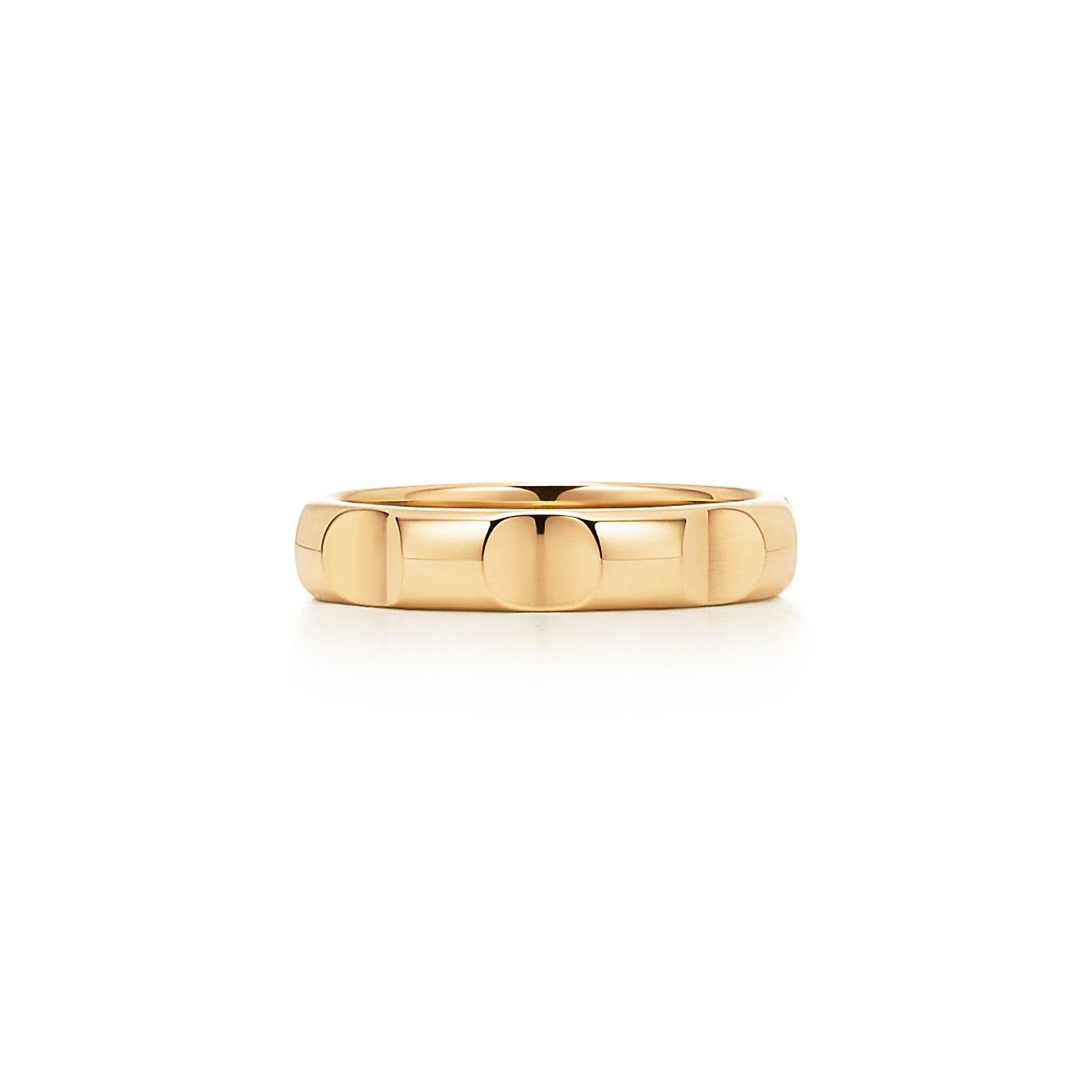 Palomas Groove narrow ring in 18k gold, 4 mm wide - Size 11 1/2 Tiffany & Co.